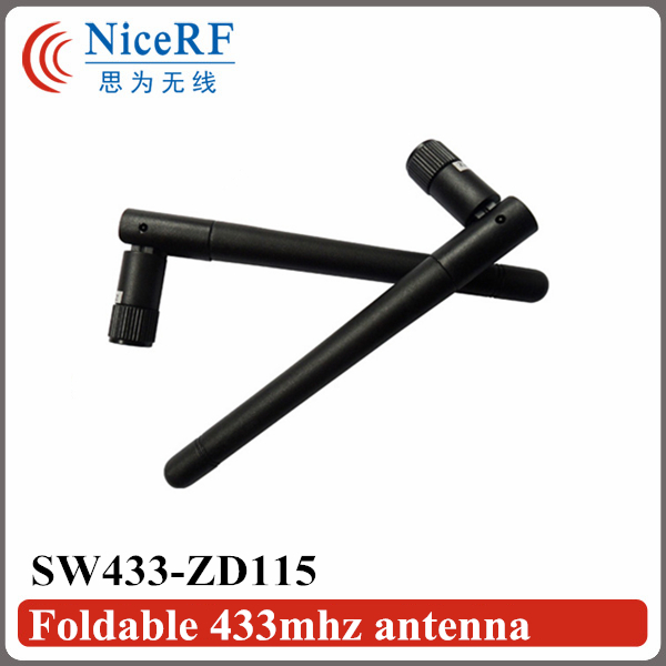 5pcs NiceRF Folded Rubber Antenna SW433-ZD115 in 433MHz/ Wireless RF Module 433MHz Antenna(China (Mainland))