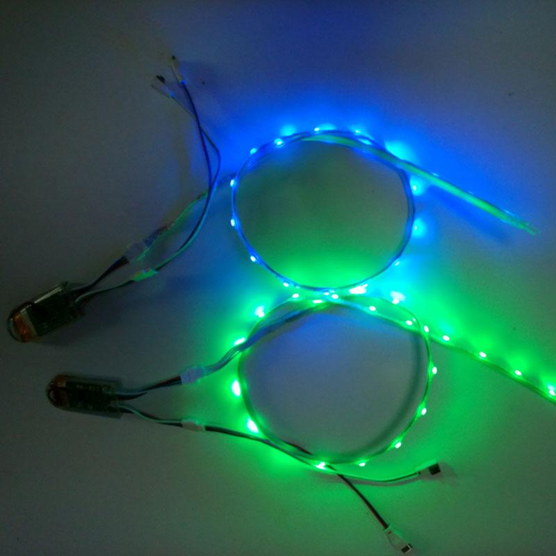 Гаджет   LED Shoe Strip Lights USB Charging 3V SMD 3528 RGB 60CM 24led  LED Strip For DIY Stage Shoes LED Shoe Light None Свет и освещение
