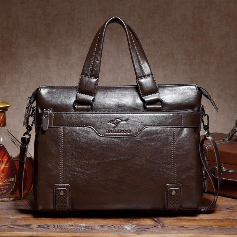 High Quality pu Leather Men Messenger Bags Briefcase Portfolio 14'' Laptop Bags Business Travel Bag Dollar price(China (Mainland))
