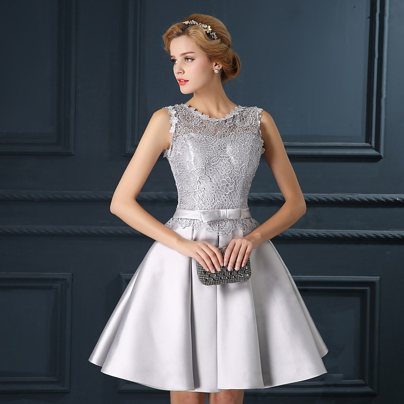 Popular Grey Cocktail Dresses-Buy Cheap Grey Cocktail Dresses lots ...