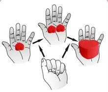 Magic Tricks Close up Funny Illusion Jumbo & Small Sponge Heart Love Ball Magic Trick Gadget [4008-931](China (Mainland))