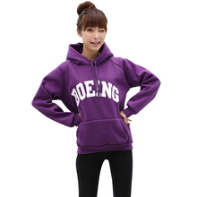 2015 Spring Autumn Winter Women Hoodies Casual Letter Print Pullover Hooded Sweatshirt Sport Coat Outwear Top188(China (Mainland))