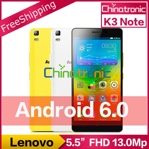 "Original Lenovo K3 Note K50 Android 5.1 Unlock Mobile Phone MTK6752 Octa Core Dual SIM 4G FDD LTE 5.5""FHD 2G RAM 13MP 3000mAh(China (Mainland))"
