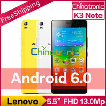 "Original Lenovo K3 Note K50 Android 5.1 Unlock Mobile Phone MTK6752 Octa Core Dual SIM 4G FDD LTE 5.5""FHD 2G RAM 13MP 3000mAh(China (Mainland))"