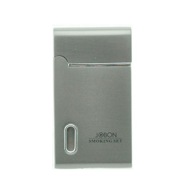Fashionable Jobon Style LED Cigarette Lighter Refillable Butane Gas Cigar Jet Torch Lighter(China (Mainland))