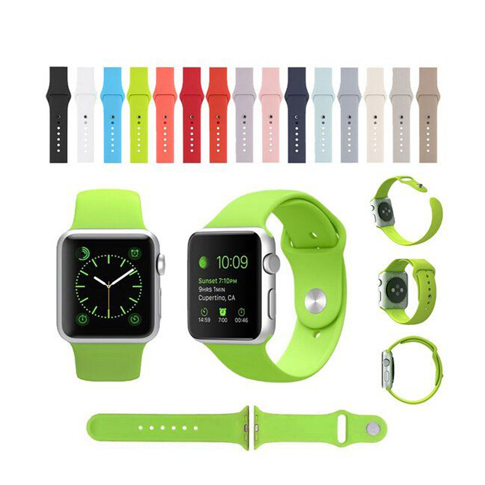 38/42mm Candy Silicon Rubber Original Integrated Connector Casual Sports Iwatch Band Strap Watch Bracelet for Apple Watch I62.(China (Mainland))
