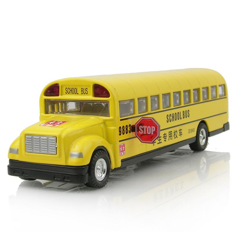 2013 Fashion Luxury Alloy toy car school bus long bread bus school bus car model acoustooptical WARRIOR