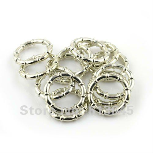 Free Shipping 50PCS/LOT Scarf Findings Shine Round CCB Rings Jewellery Necklace Pendants Charming Scarf Accessories, AC0059A(China (Mainland))