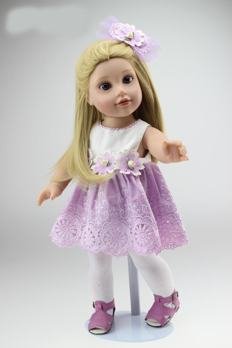 New style 18 inch american girl doll realistic baby doll toys Vinyl lifelike kids birthday gifts play house girl brinquedos<br><br>Aliexpress