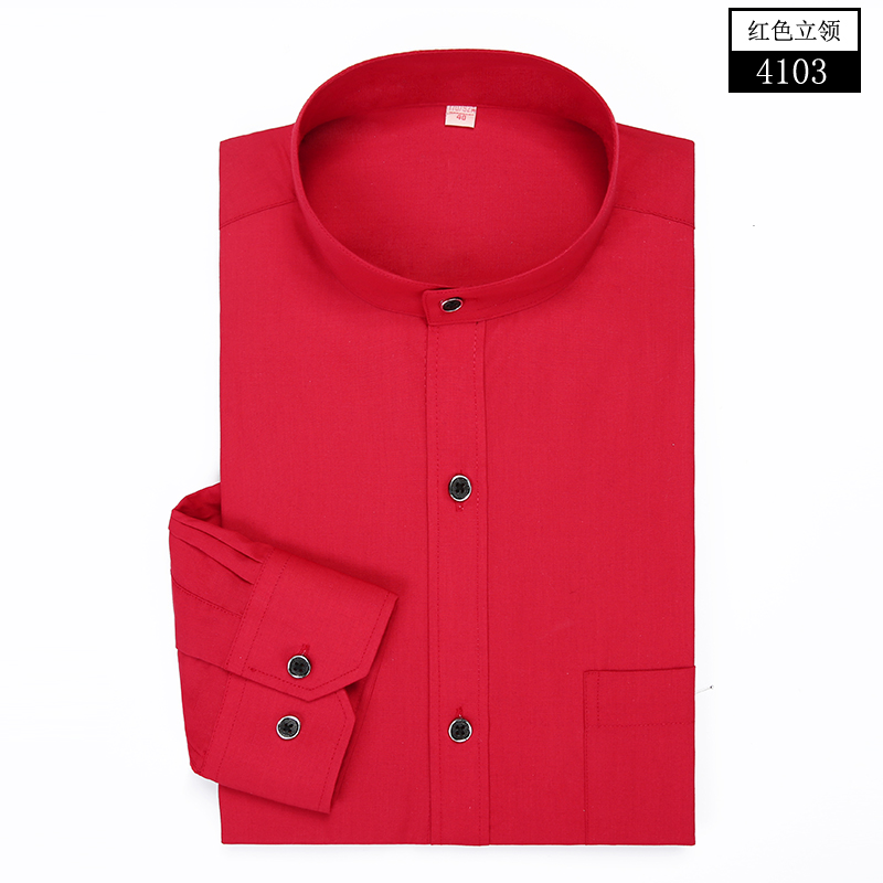 Popular Black Dress Shirt With White Collar And Cuffs Buy