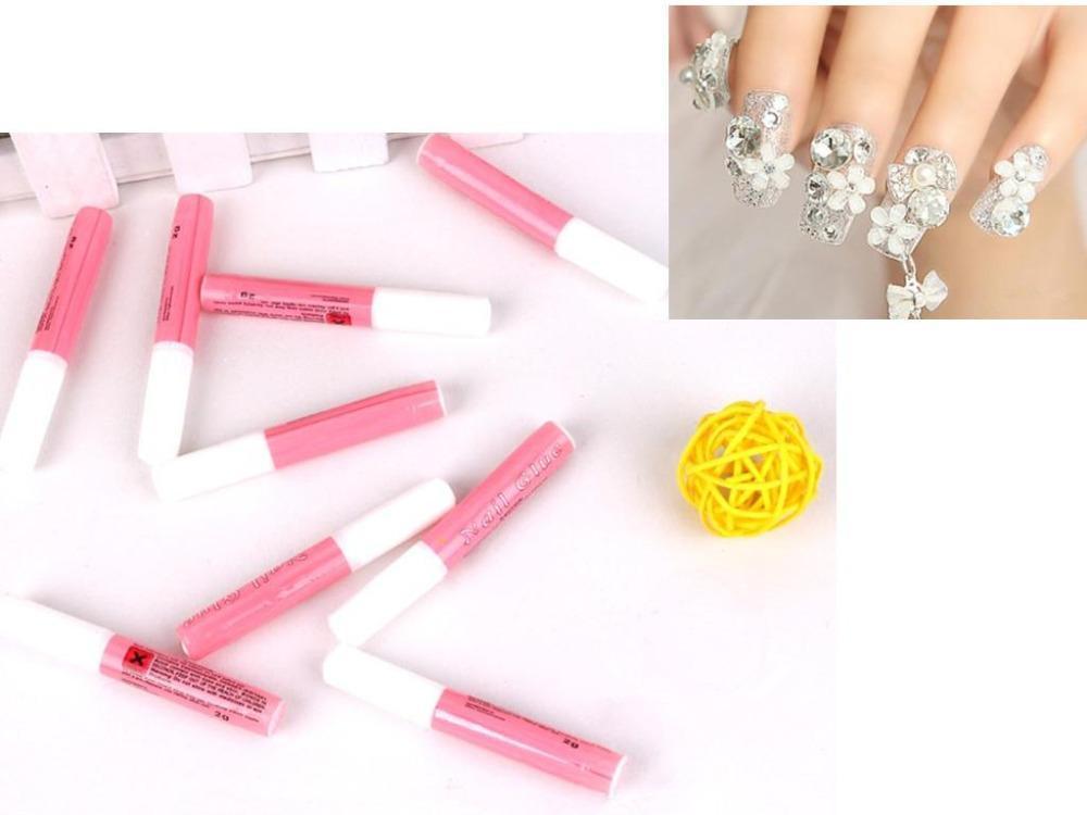 10 X 2 g Mini profissional da beleza falso Nail Art decorar dicas acrílico cola