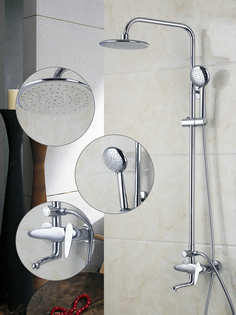 Shower Set A Grade ABS Shower Faucet Bathroom Bath Shower Faucet Set ...