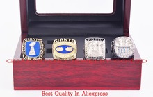 Who Can Beat Our Rings, High Quality 4 Years Sets 1986/1990/2007/2011 New York Giants Championship Rings With Wooden Boxes(China (Mainland))