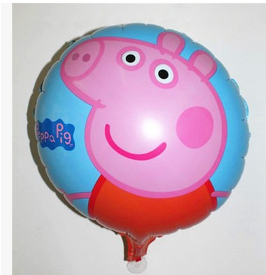 5PCS George Mum Daddy pink pig balloon cartoon 45cmx45cm round balloon inflatable helium ballon for birthday party supplies &(China (Mainland))