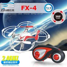 2015 Fineco FX-4 GYRO 2.4G 4CH 6-Axis Mini RC Helicopter With Alloy Propeller Blade UFO Quadcopter Quad Copter RTF