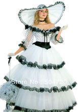 1890s Victorian Corset Gothic/Civil War Southern Belle Ball Gown Dress Sz US 6-26 XS-6XL V-1170