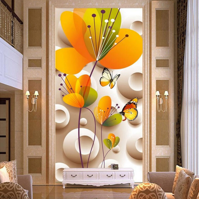 Custom cartoon style wall mural photo wallpaper 3d for Custom mural wallpaper uk