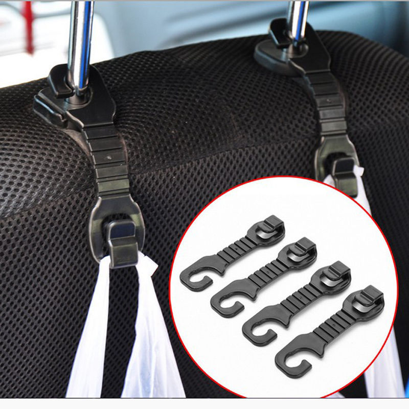 HOT Car Back Seat Headrest Hanger Holder Hooks For Bag Purse Cloth Grocer Free Shipping