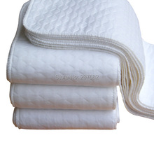 Free shipping 10pcs lot 6 Layers super absorbent soft and Breathable Baby disapers washable Modern Cloth