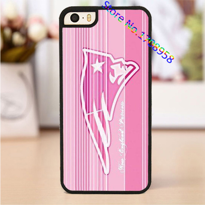 Logo of New England Patriots Pink original phone cell cover case for iphone 4 4s 5 5s SE 5c 6 6 plus 6s 6s plus #PL2328(China (Mainland))