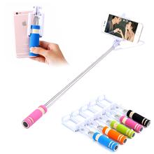 Mobile Phone Mini Handheld Selfie Stick Extendable Portable Monopod Tripod for iPhone Samsung Galaxy Folded Camera Selfie