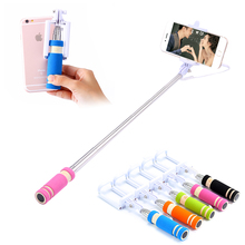 Mobile Phone Mini Handheld Selfie Stick Extendable Portable Monopod Tripod for iPhone Samsung Galaxy Folded Camera Selfie(China (Mainland))