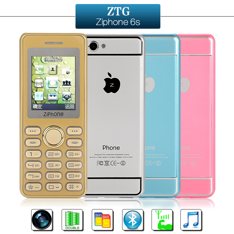 product ZTG zipone 6s Super slim Mini Pocket student children's mobile phone credit card mobile phone original phone lady woman phones