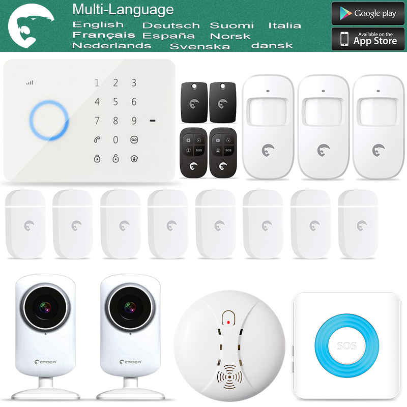 eTIGER S3B GSM Wireless & Wired Burglar Alarm System for Home/Office WiFi Network Camera(China (Mainland))