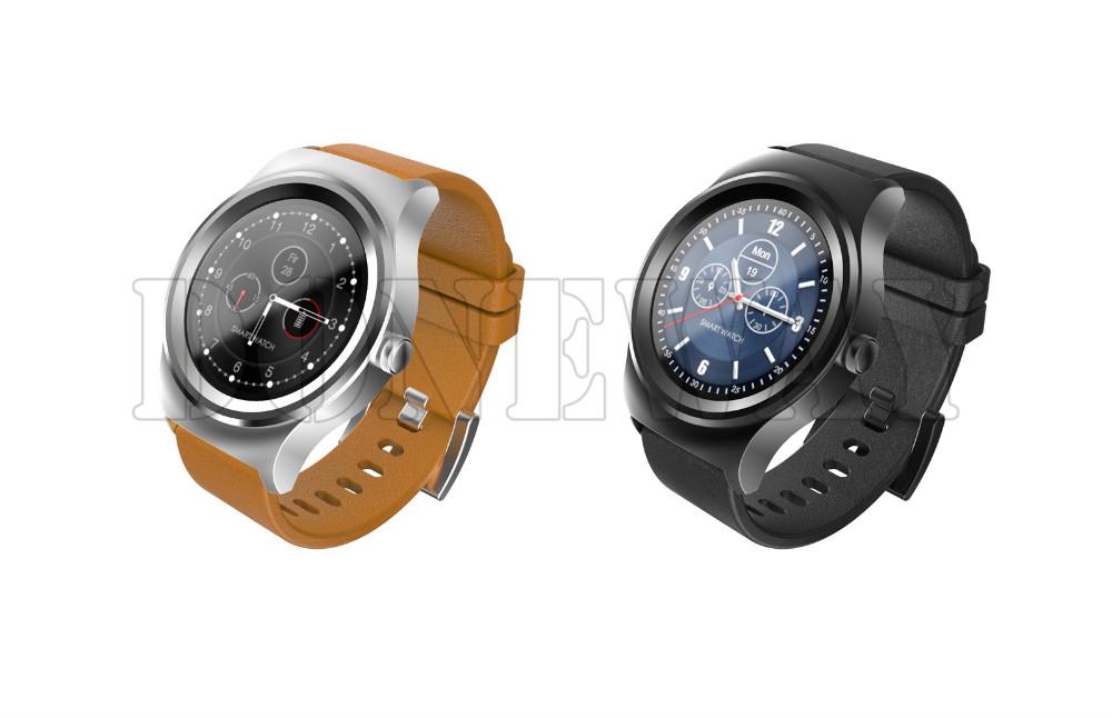 ถูก สมาร์ท01หนัง/แถบสแตนเลสสมาร์ทนาฬิกาบลูทูธH Eart Rate Monitorสมาร์ทสัมผัสสร้อยข้อมือสำหรับIOS 7/ข้างต้นAndrold4.3