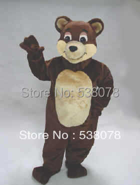 Best Price Chocolate Bear Mascot Costume Adult Size Mascotte Outfit Suit Party Carnival Fancy Dress SW507(China (Mainland))
