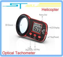 SkyRC Helicopter Optical Tachometer 3D glass screen 5 presets of Flashing Frequency/RPM for rc drone aircraft low ship Toy kids