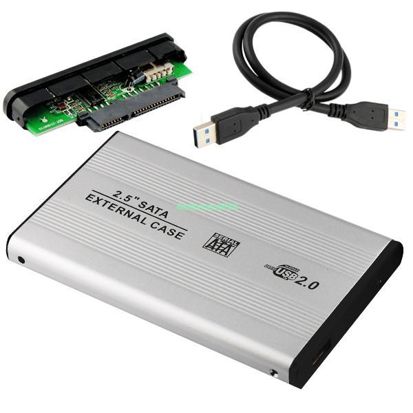 """EL5020 USB 2.0 HDD Hard Drive Disk Silvery Enclosure External 2.5"""" SATA HDD Case Box(China (Mainland))"""