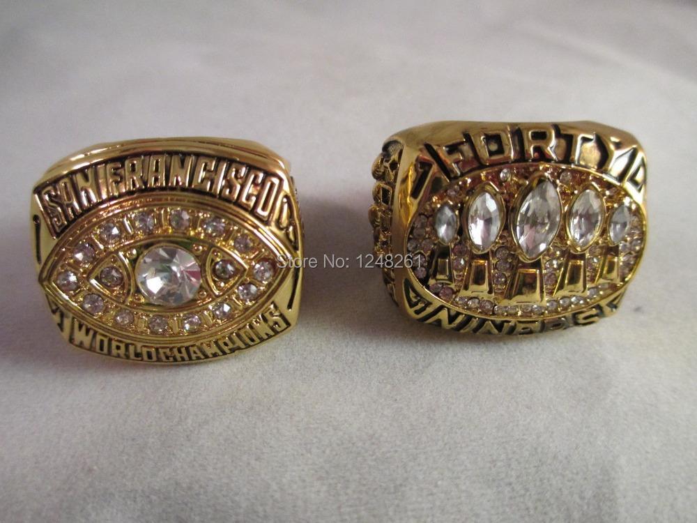 Free shipping replica 1981 1994 San Fransico 49ers Superbowl Championship Fan Replica Rings NFL Montana(China (Mainland))