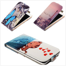 For HTC Desire 628 dual SIM Vertical Case,Fashion Printed Blue Butterfly & Wolf Girl Flip PU Leather Mobile Phone Case(China (Mainland))
