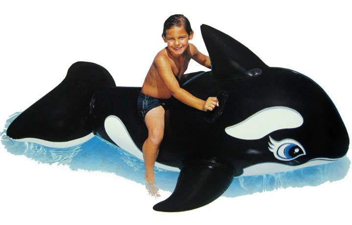 Floating Animals Mounts Children's Black Whale Water Rides Inflatable Swim Air Mattresses Beach Toys Water Sports Free Shipping(China (Mainland))