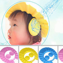 wholesale Adjustable Baby Kids Shampoo Bath Bathing Shower Cap Hat Wash Hair Shield with ear