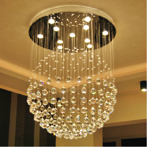 Modern luxuly contracted fashion personality style crystal ball pendant lamp(China (Mainland))