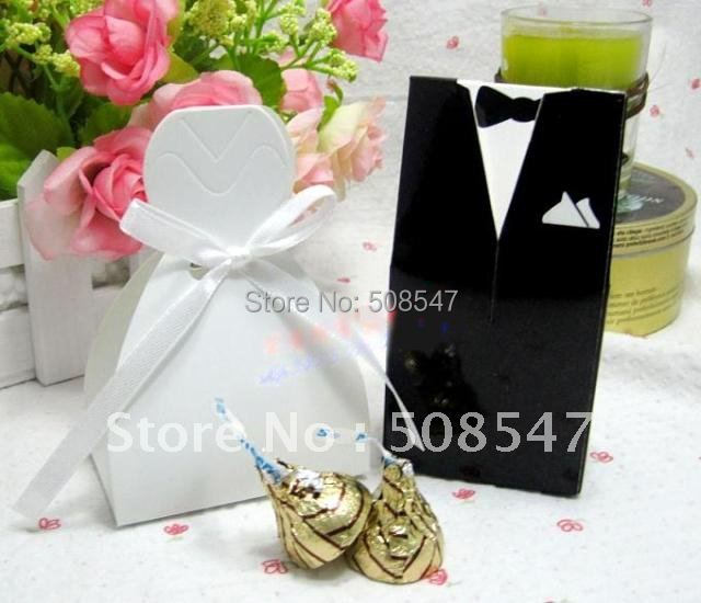 Buy Wedding Gift Box : : Buy 100pcs Bride and Groom Wedding Favor Boxes gift box candy box ...