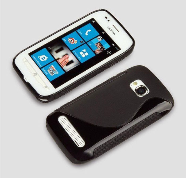 Soft TPU Gel S Line Skin Cover Case for Nokia Lumia 710 Drop shipping