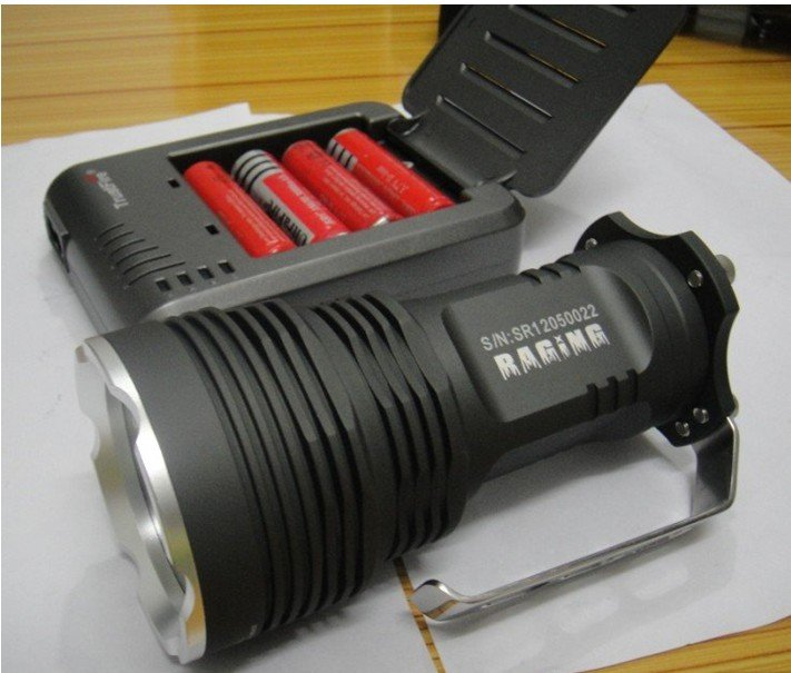 Free shipping Wholesale Sale bright 6000 Lumen 5x CREE XM-L 5x T6 LED 4x 18650 Battery Flashlight Torch Car Charger Lamp BOX(China (Mainland))