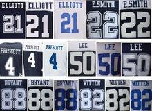 Mens 4 DAK 21 EZEKIEL 82 Jason 88 dez Blue White Thanksgiving elite Jerseys(China (Mainland))