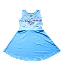 שמלת נסיכת קיץ בנות פעוטה מתנת יום הולדת Cosply חד קרן Alien חית צד פורמלי כדור שמלת שמלה קיצית 1-10Y(China)