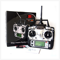 Freeshipping FS FlySky FS-T6/FS T6 2.4G Digital Proportional 6 Channels Transmitter & Receiver w/ LED Screen Mode 2