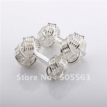 C12 Free shipping /Fashion Jewelry /Top Quality 2012 New Style Hot / 925 Silver Cufflinks Christmas Gifts(China (Mainland))