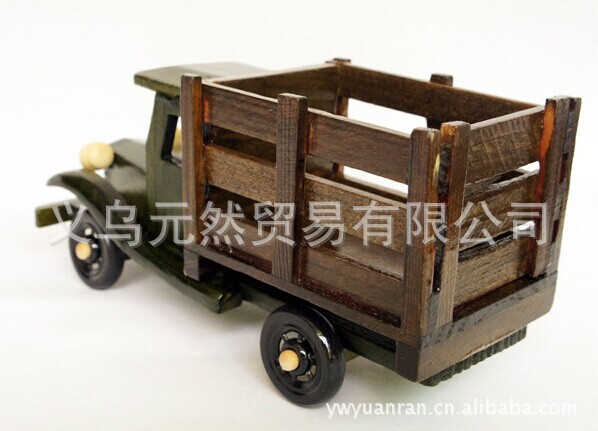 Wooden truck toy car model wood craft art collection decoration(China (Mainland))