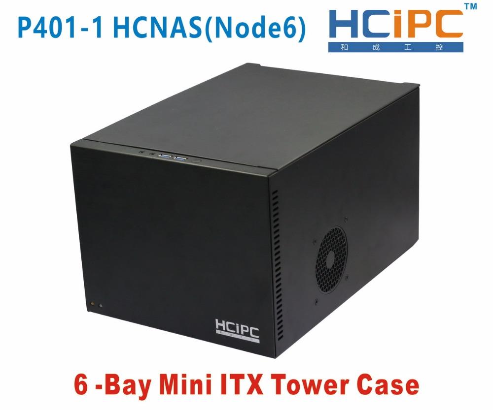 HCiPC 6Bay Mini ITX Tower Case,6Bay NAD HDD Enclosure,6bay NAS Server,NAS CASE-Free Shipping(China (Mainland))