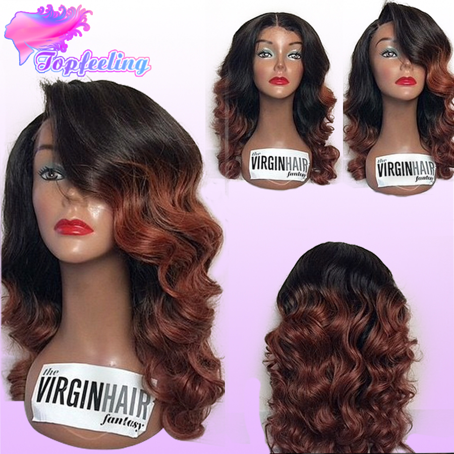 Гаджет  Cheap Full Lace Ombre Human Hair Wigs Glueless Ombre Wavy Wigs For Black Women Brazilian Ombre Lace Front Wig Natural Hair Line None Волосы и аксессуары