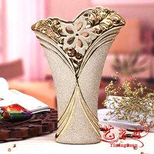 Fashion decoration luxury cutout ceramic vase modern brief decoration tv cabinet decoration fashion crafts(China (Mainland))