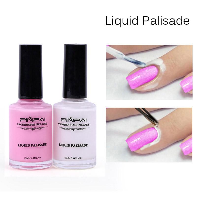 15ml White and Pink Peel Off Base Coat & Liquid Tape Nail Art Liquid Palisade Nail Art Latex Easy clean Base Coat Care
