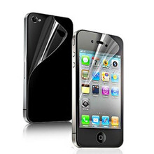 12 pcs=6x(Front+Back) HD Clear Screen Protector Cover Film For iPhone 4 4S mobile film